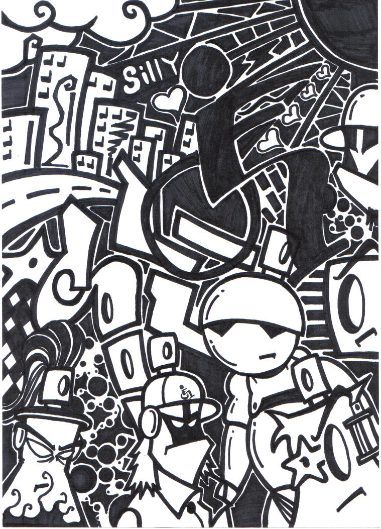 black n white mural on paper by silifulz on deviantart