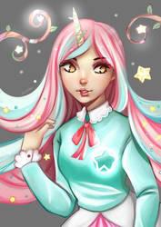 Lumina, The Unicorn Starfruit Princess by erlishie
