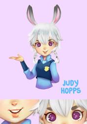 Judy Hopps in Kawaii style by erlishie