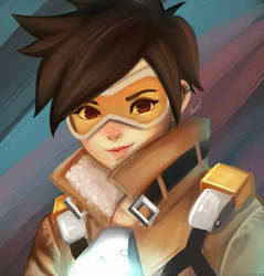Tracer Overwatch by erlishie