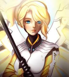 Overwatch Mercy by erlishie