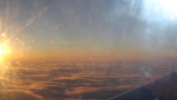 Sunset Above the Clouds by Zartanifer