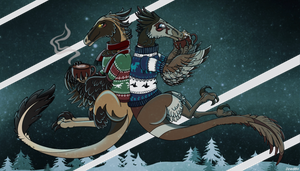 Winter deinonychus