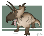 Albertaceratops pug by DredHo