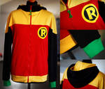 BATMAN AND ROBIN: damian wayne hoodie (2nd ver)