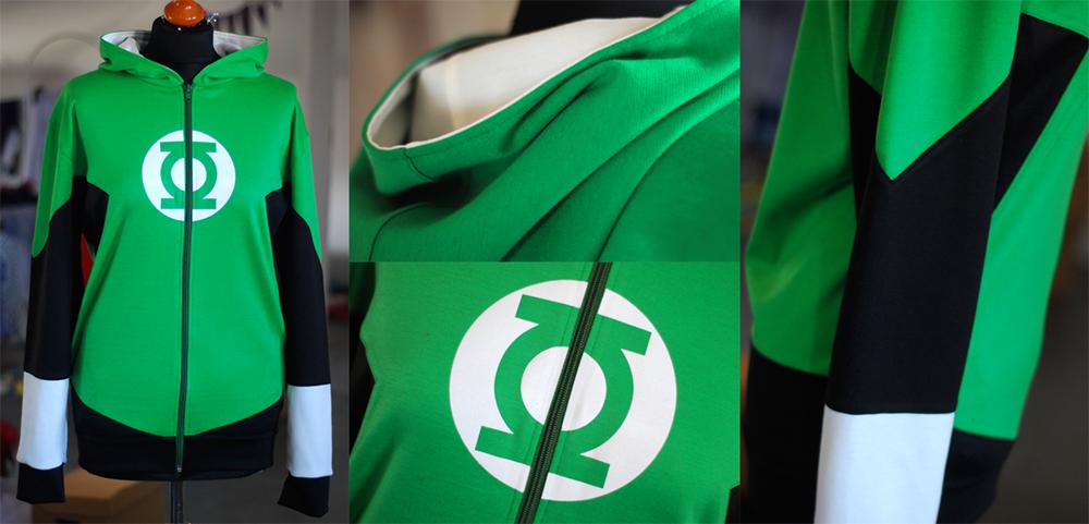 GREEN LANTERN: hal jordan hoodie by envylicious