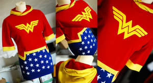 WONDER WOMAN: diana of themyscira hoodie dress