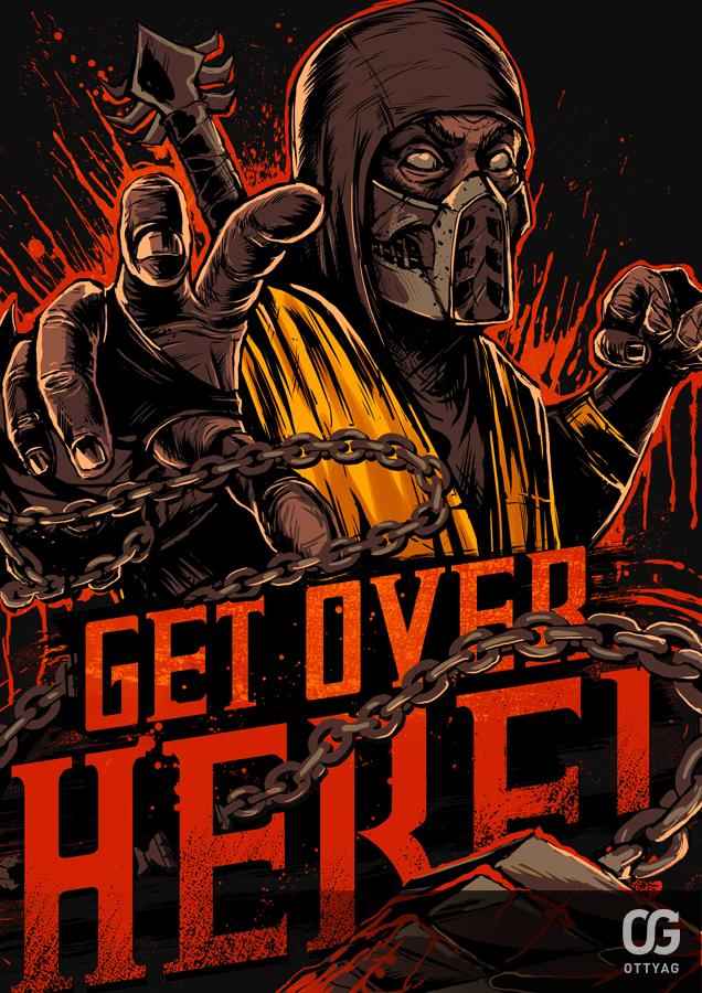 Mortal Kombat 9 Scorpion Wallpaper Get Over Here