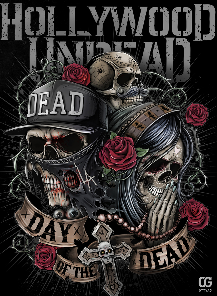 Hollywood undead day of the dead by bakerrrr on deviantart for My tattoo shop hollywood