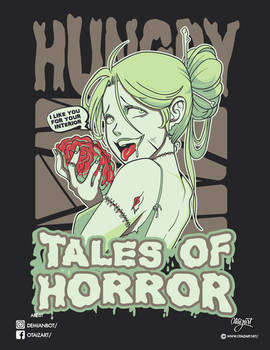 Zombie shirt anime girl face Tales of horror