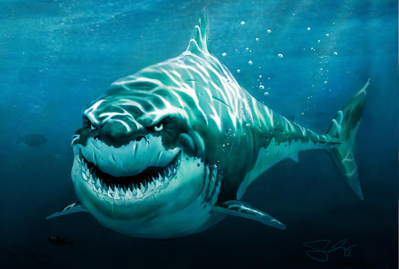 Great White! by JonathanGragg