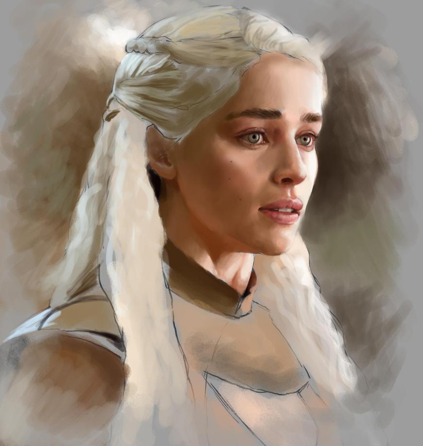 Daenerys Targaryen WIP by JonathanGragg