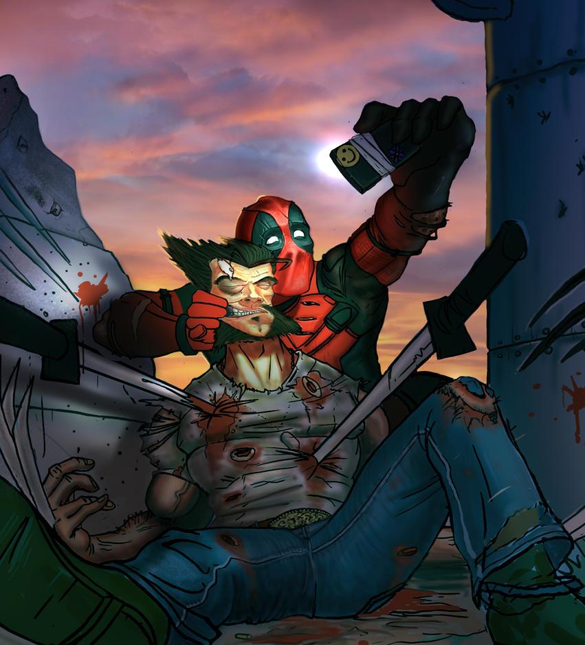 Deadpool VS Wolverine WIP 2 by JonathanGragg