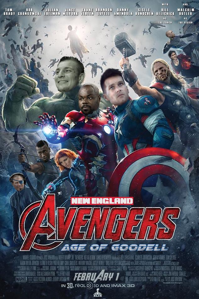New England Avengers Movie Poster Patriots