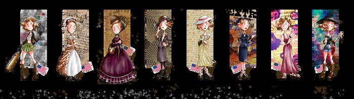 Fashion History - Fem!America by SailorX2