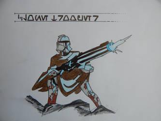 Star Wars - Clone Trooper (EpII) Sketch by Falkonsflight