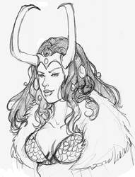 Loki with Sif face