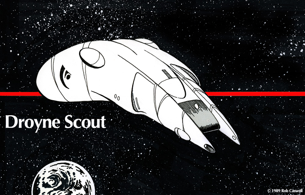 Droyne Scout Courier by Rob-Caswell