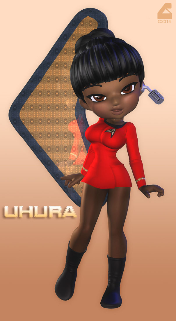 Chibi Uhura2 by RobCaswell