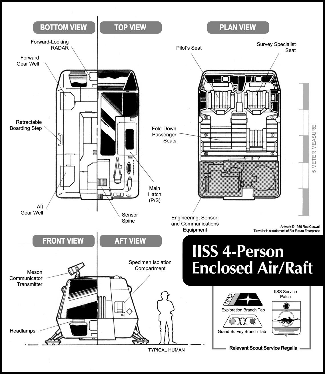 Enclosed Scout Air/Raft