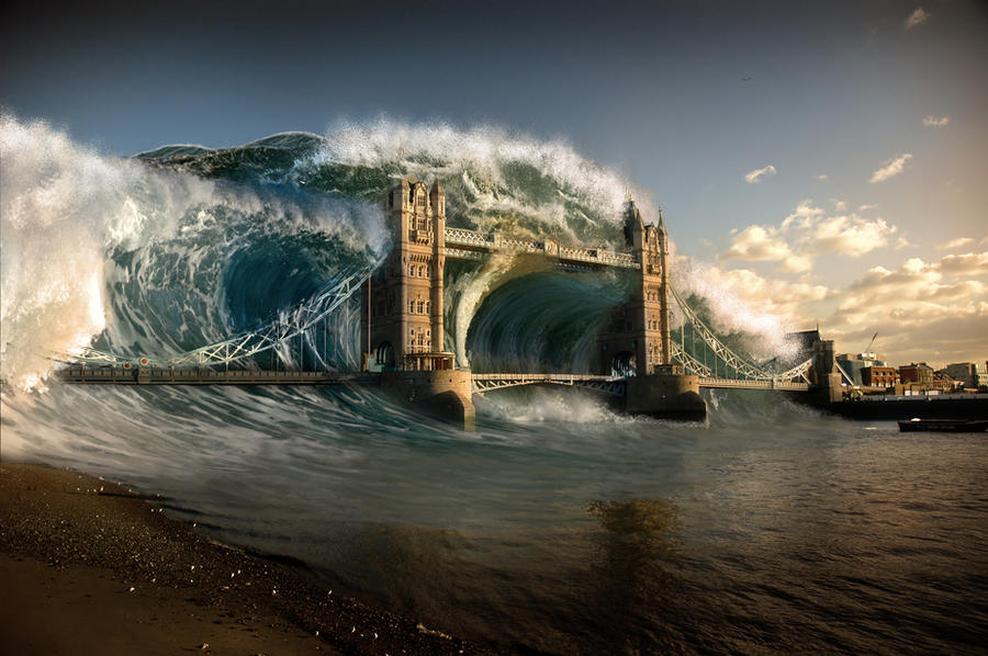 Tsunami in London by stipan93