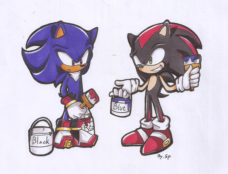 Sonic and Shadow change theirs color by 415sonic on DeviantArt