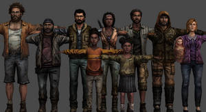 Michonne's Group - The Walking Dead Michonne (XPS)