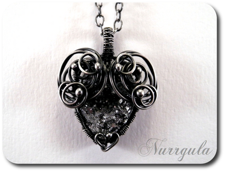 The Heart of Stone - silver and Quartz pendant