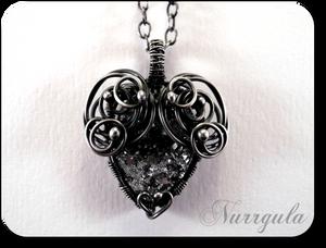 The Heart of Stone - silver and Quartz pendant