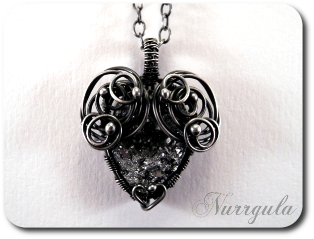 The Heart of Stone - silver and Quartz pendant by nurrgula