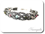Celtic silver bracelet - braided with Tourmalines
