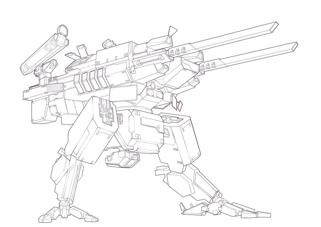 Artillery Mech Concept by sevenmilesaway