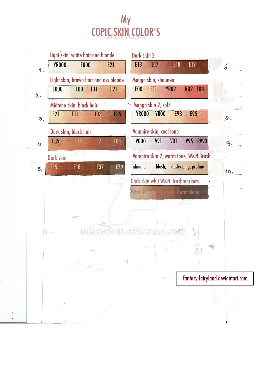 My colic skin color chart by fantasy-fairyland