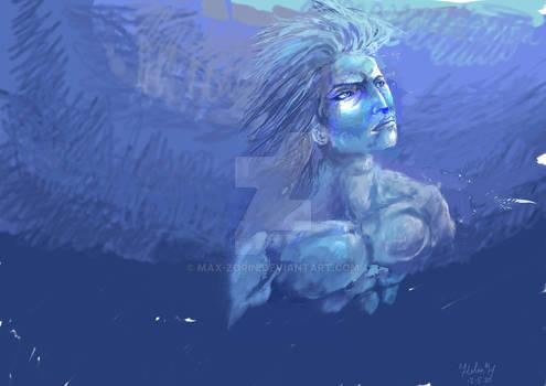 In the deep ocean