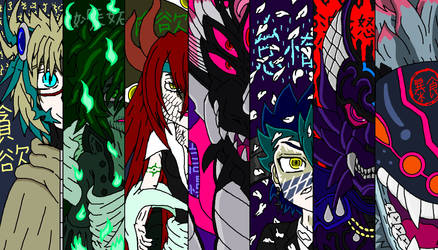 Buddyfight AU - The Seven Deadly Sins by YamiNetto