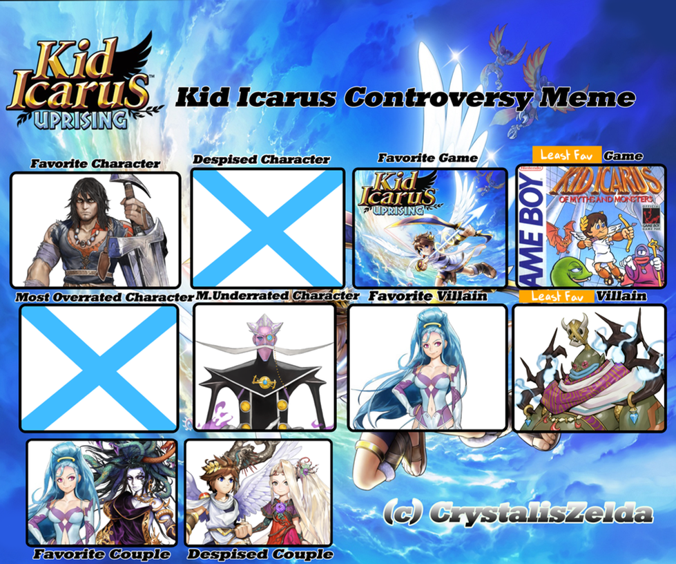 Kid Icarus Controversy Meme By Zanui On DeviantArt