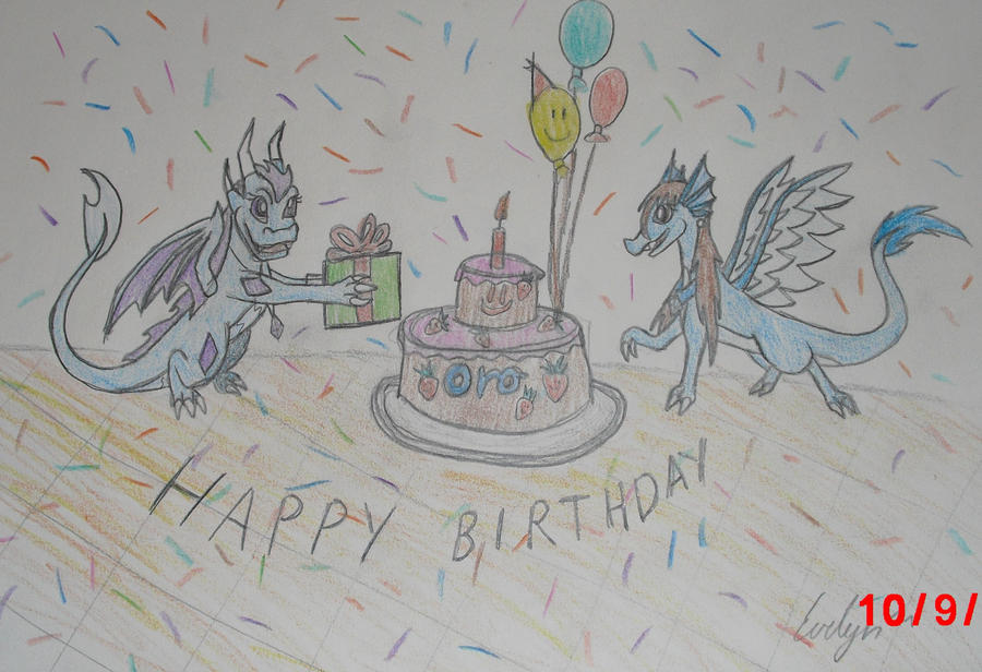 Happy Birthday Oro-VaderDragon ^^ by BlueEvelyn