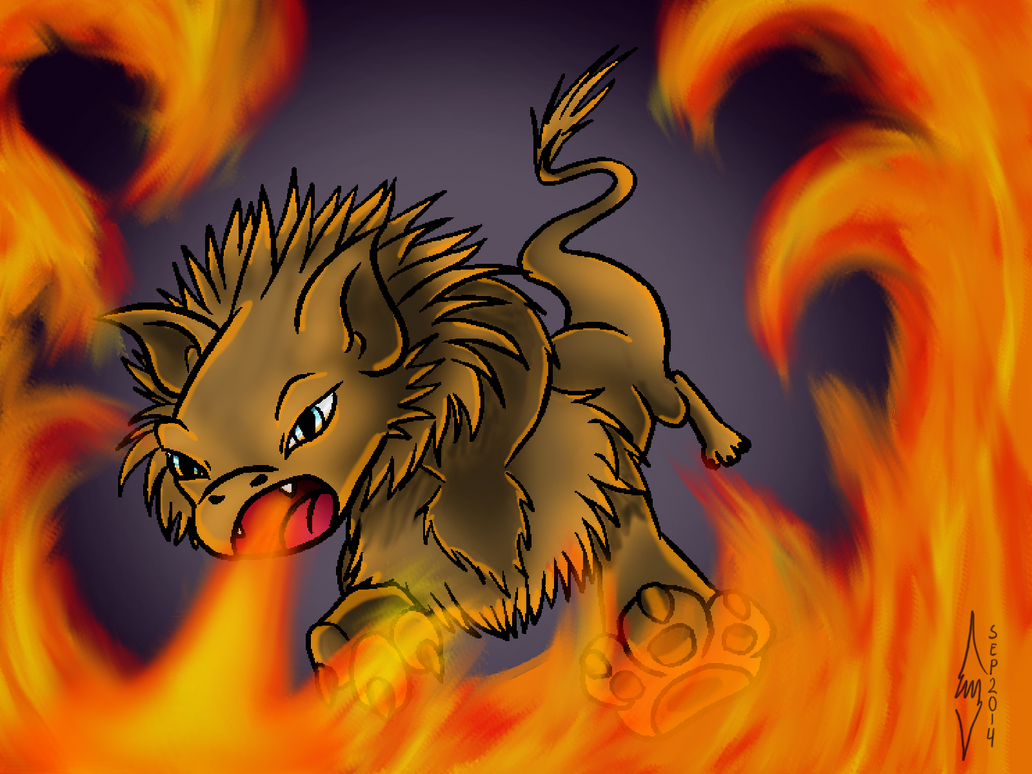 Lion Fire by BlueEvelyn