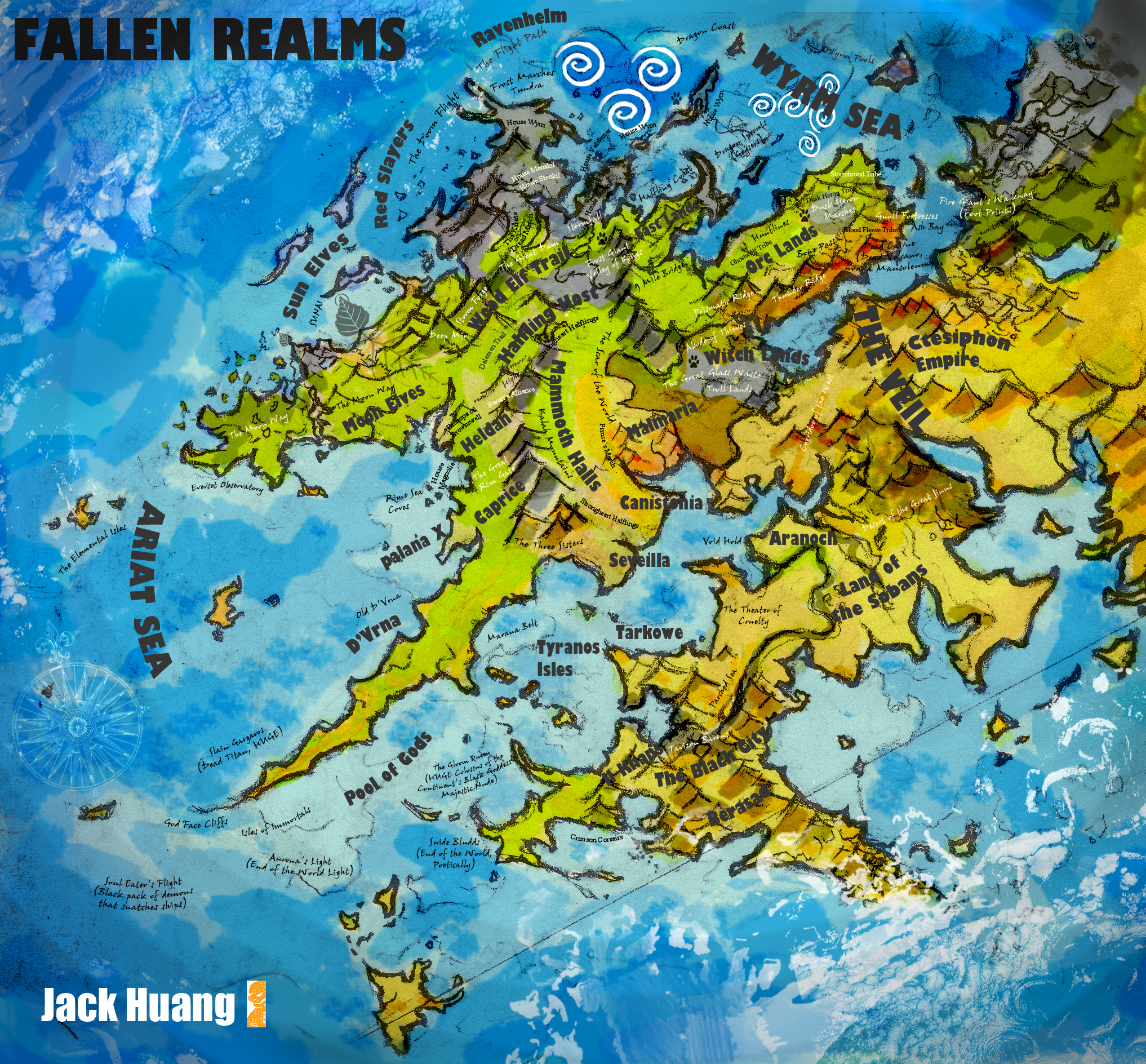 Video game concepts world of lors map by lindseyshemwell on fallen realms world map by dorianclock gumiabroncs Images