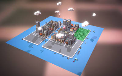 Low poly city block2 by ionut92