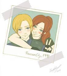 Claire and Leon by EvanOdinson