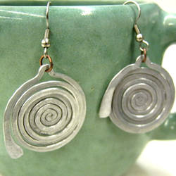 Geometric Spiral Earrings