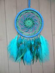 Decorative Dreamcatcher ~Turquoise whirlpool~