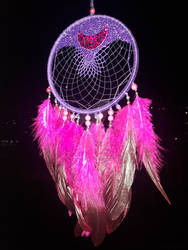 Decorative Dreamcatcher ~Moon lace~