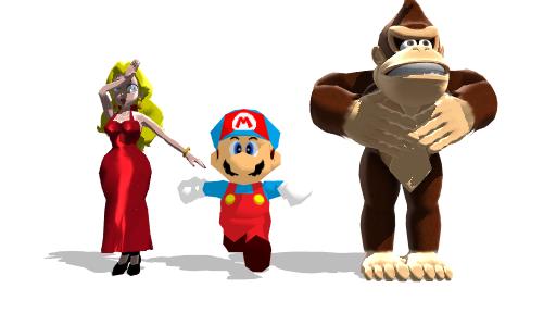MMD Donkey Kong Arcade Models DL! by Ryad2006
