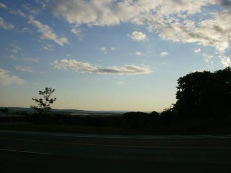 Backlit Blue Sky III