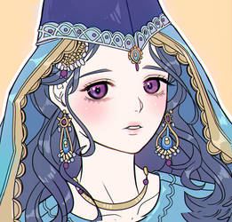 Character in Arabian traditional style clothes b