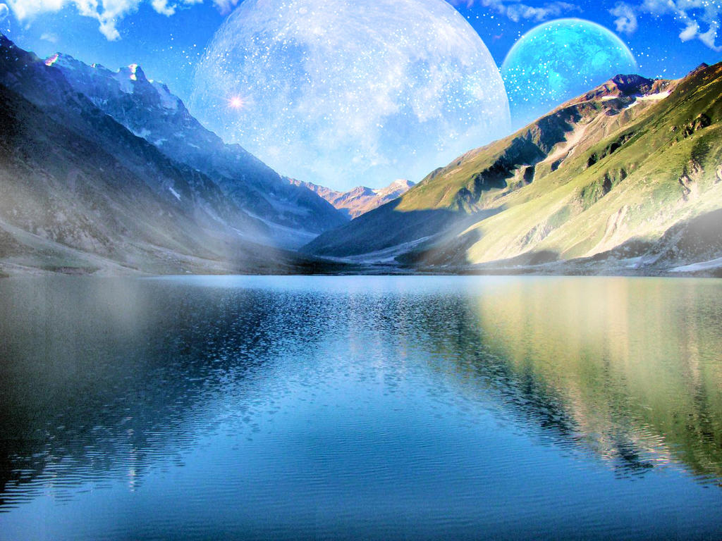 Fantasy Landscape With Fog on the Water by EocDesigns on DeviantArt for Fantasy Water Landscape  146hul