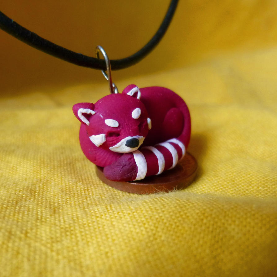 Red panda pendant by tinina