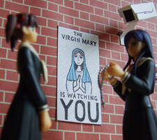 VIRGIN MARY IS WATCHING YOU by tommy-tommerson